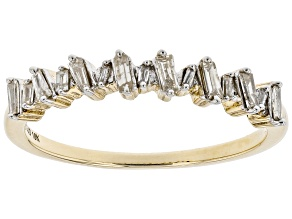 Pre-Owned White Diamond 10k Yellow Gold Band Ring 0.25ctw