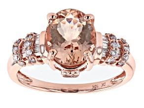 Pre-Owned Pink Morganite 10k Rose Gold Ring 2.42ctw