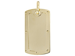 Pre-Owned 10K Yellow Gold Dog Tag Pendant
