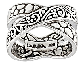 Pre-Owned Sterling Silver Crossover Ring