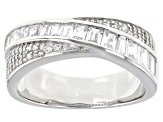Pre-Owned White Cubic Zirconia Platinum Over Sterling Silver Ring 1.61ctw