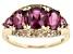 Pre-Owned Grape Color Garnet 10k Gold Ring 3.26ctw.