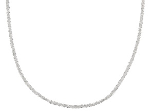 Pre-Owned Sterling Silver Polished Spiral Link Chain Necklace 24 Inch