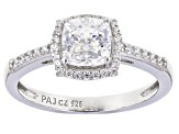 Pre-Owned Celebration Cut Zirconia From Swarovski(R) Rhodium Over Sterling Silver Ring 2.31ctw