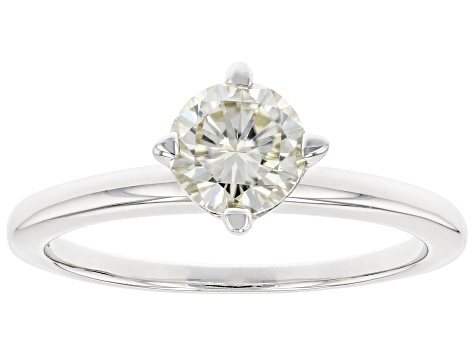 Pre-Owned Candlelight Moissanite Platineve Solitaire Ring .80ct DEW.