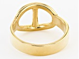Pre-Owned 18K Yellow Gold Over Sterling Silver Mariner Link Ring