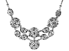 Pre-Owned Sterling Silver Bib Necklace