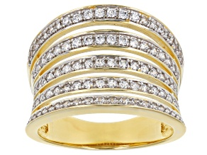 Pre-Owned White Cubic Zirconia 1k Yellow Gold Ring 1.28ctw