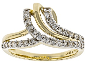 Pre-Owned White Diamond 10K Yellow Gold Ring 0.50ctw