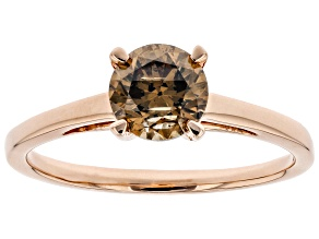 Pre-Owned Champagne Diamond 10K Rose Gold Ring 1.00ctw