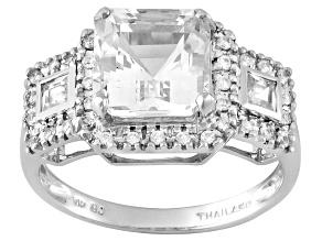 Pre-Owned White Danburite 10k White Gold Ring 2.78ctw.