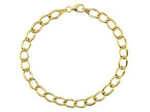 Pre-Owned 10k Yellow Gold Polished Oval Curb 8 inch Bracelet
