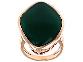 Pre-Owned Green Onyx Copper Ring