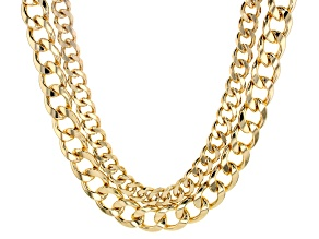 Pre-Owned Off Park ® Collection, Gold Tone Multi-strand Link Chain necklace