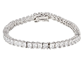 Pre-Owned White Cubic Zirconia Rhodium Over Sterling Silver Bracelet 17.10ctw