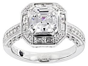 Pre-Owned White Cubic Zirconia Platineve Ring 3.94ctw