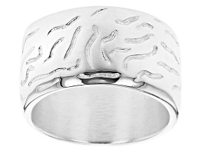 Pre-Owned Sterling Silver Wave Design Ring