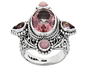 Pre-Owned Sudsy Sells™ Mystic Quartz® Sterling Silver Ring 5.62ctw