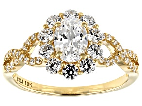 Pre-Owned White Cubic Zirconia 10K Yellow Gold Ring 2.50ctw