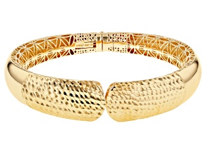 Pre-Owned Moda Al Massimo™ 18K Yellow Gold Over Bronze 8 Inch Cuff Bracelet