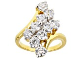 Pre-Owned White Cubic Zirconia 18k Yellow Gold Over Sterling Silver Ring 4.44ctw