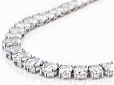 Pre-Owned White Cubic Zirconia Rhodium Over Sterling Silver Necklace 69.95ctw