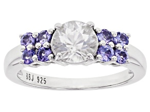 Pre-Owned White Zircon Rhodium Over Sterling Silver Ring 2.07ctw