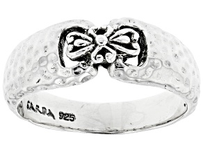 """Pre-Owned Sterling Silver """"Strength To The Weary"""" Ring"""