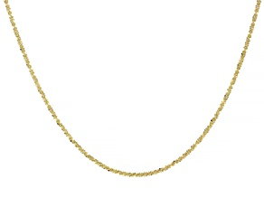 Pre-Owned 10K Yellow Gold Criss-Cross Chain Necklace 20""