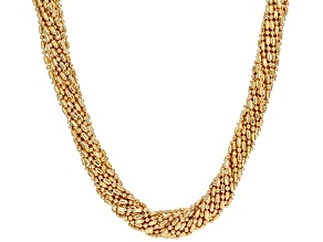 Pre-Owned 18k Yellow Gold Over Bronze Multi-Strand Bead Necklace 20 inch