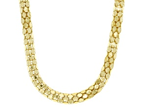Pre-Owned 18K Yellow Gold Over Sterling Silver 4.90MM Popcorn Chain 20 Inch Necklace