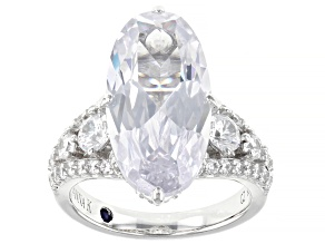 Pre-Owned White Cubic Zirconia Platineve Ring 11.75ctw