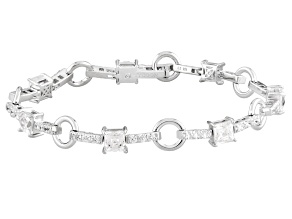 Pre-Owned White Cubic Zirconia Platineve Bracelet 10.51ctw