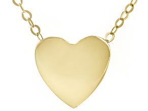 Pre-Owned 10K Yellow Gold Heart Cable Chain 18 Inch Necklace