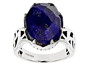Pre-Owned Lapis Sterling Silver Ring