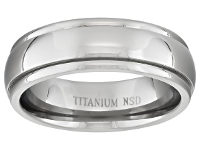 Pre-Owned 6mm Men's Titanium Wide Edge Comfort Fit Band