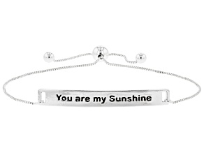 """Pre-Owned Sterling Silver """"You Are My Sunshine"""" Engraved 9 Inch Bolo Bracelet"""