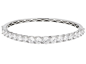 Pre-Owned White Cubic Zirconia Rhodium Over Sterling Silver Bracelet 16.25ctw