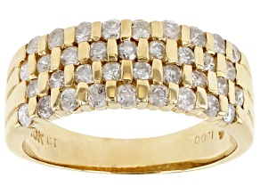 Pre-Owned White Diamond 10K Yellow Gold Band Ring 1.00ctw