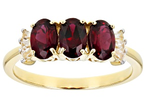 Pre-Owned Red Anthill Garnet 14k Yellow Gold Ring 1.68ctw