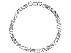 Pre-Owned Sterling Silver 2.20MM Flat Box Link 8 Inch Bracelet