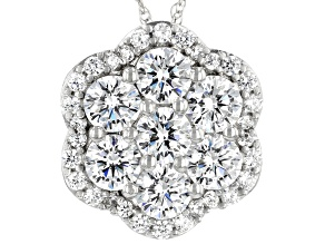 Pre-Owned White Cubic Zirconia Pendant With Chain  3.85ctw