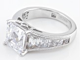 Pre-Owned White Cubic Zirocnia Platineve Ring 8.83ctw