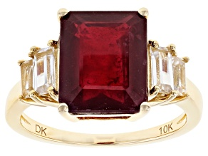 Pre-Owned Red Mahaleo® Ruby 10k Yellow Gold Ring 5.79ctw