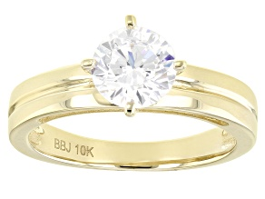 Pre-Owned White Cubic Zirconia 10k Yellow Gold Ring 1.98ctw