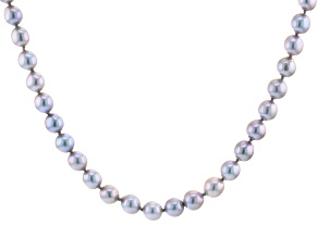 Pre-Owned Platinum Cultured Freshwater Pearl Rhodium Over Sterling Silver 18 Inch Necklace