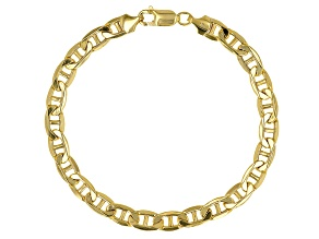 Pre-Owned 10k Yellow Gold Semi-Solid 6.5mm Mariner Link 9 inch Bracelet