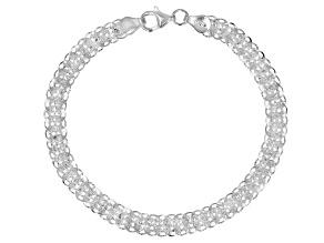 Pre-Owned Sterling Silver Flat 6.8MM Phoenix Link 7.5 Inch Bracelet