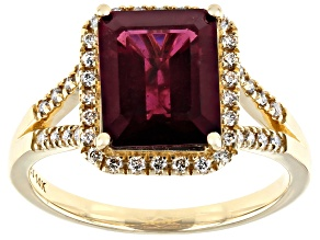 Pre-Owned Purple Garnet 14k Yellow Gold Ring 3.38ctw
