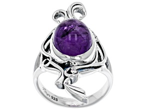 Pre-Owned Purple Amethyst Sterling Silver Ring